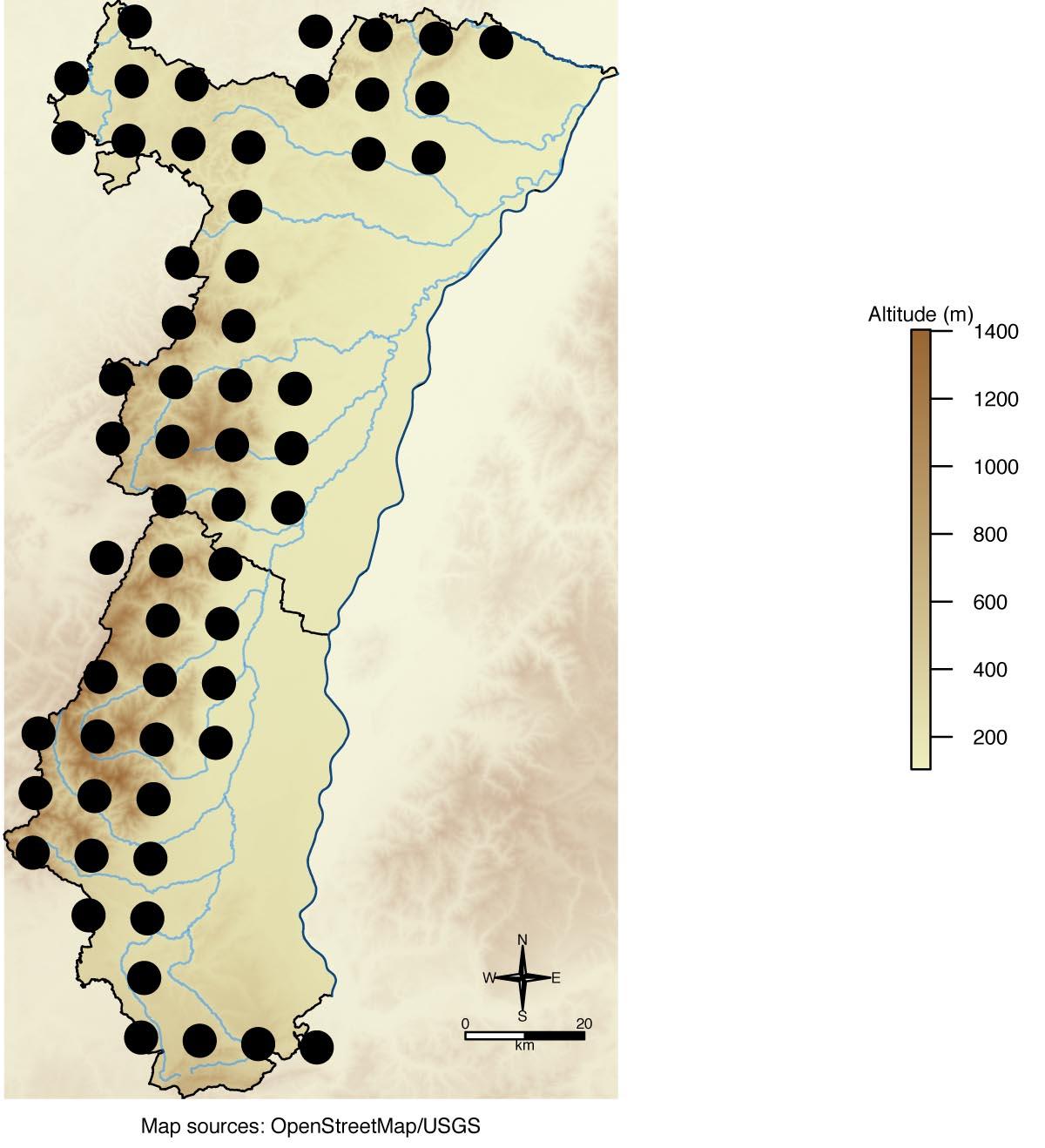 Carte de répartition en Alsace